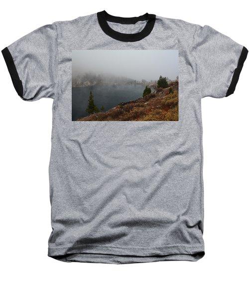 Foggy Liberty Lake Baseball T-Shirt