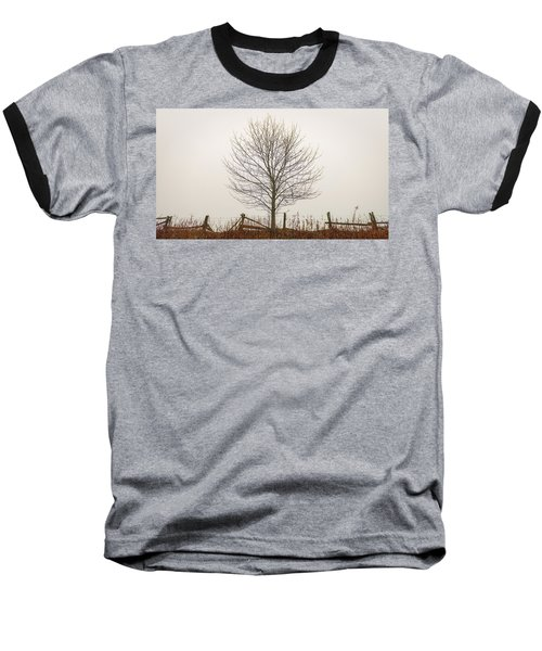 Foggy Lone Tree Hill Baseball T-Shirt