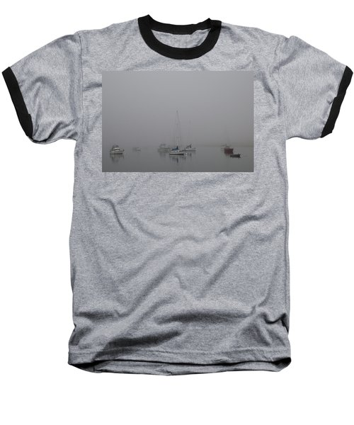 Baseball T-Shirt featuring the photograph Waiting Out The Fog by David Chandler