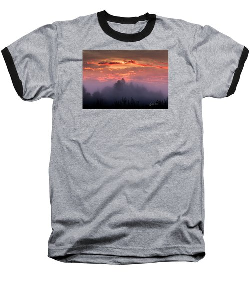 Foggy Mist At Dawn Baseball T-Shirt