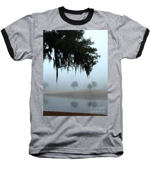 Foggy Morn Reflections Baseball T-Shirt