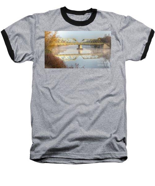 Foggy Mornin' Bridge Baseball T-Shirt