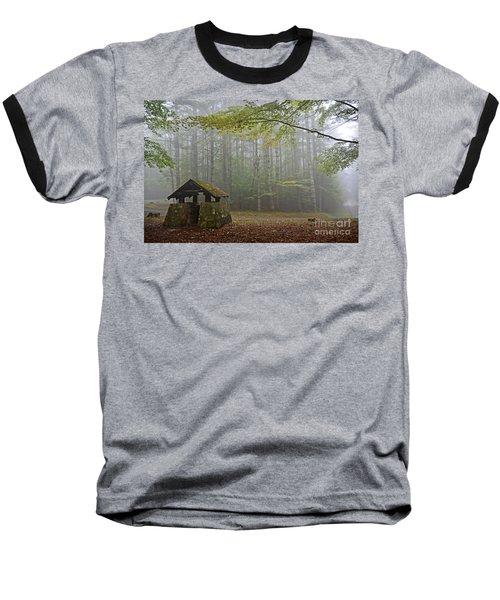 Foggy Morning At Droop Mountain Baseball T-Shirt