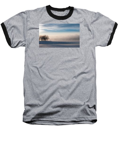 Baseball T-Shirt featuring the photograph Foggy Morning At Lake Loveland by Monte Stevens