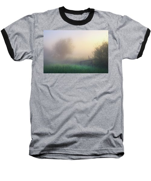 Foggy Morning Baseball T-Shirt by Dan Jurak