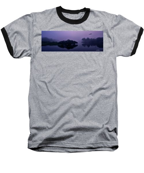 Foggy Morning Baseball T-Shirt by Don Durfee
