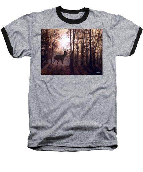 Foggy Morning In Missouri Baseball T-Shirt by Bill Stephens