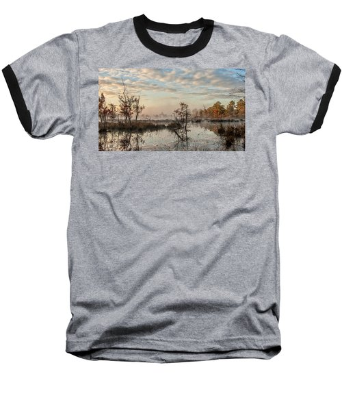 Foggy Morning In The Pines Baseball T-Shirt