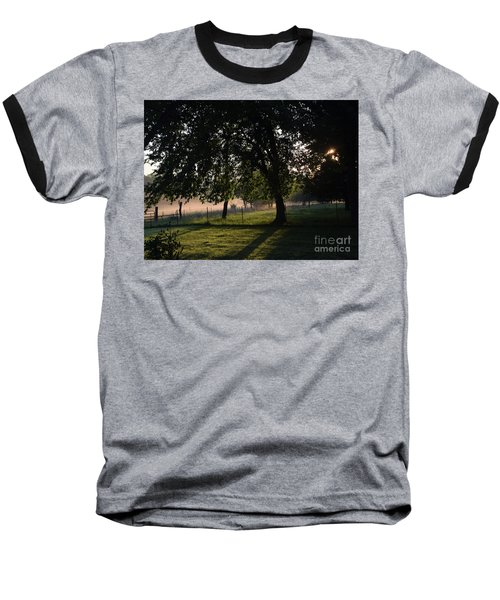 Baseball T-Shirt featuring the photograph Foggy Morning by Mark McReynolds
