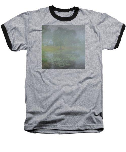 Foggy Morning On Pond Street Baseball T-Shirt