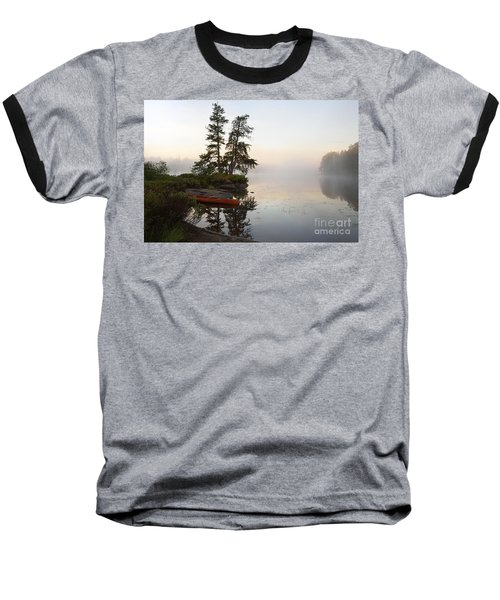 Foggy Morning On The Kawishiwi River Baseball T-Shirt
