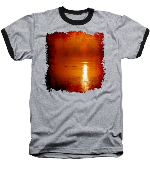 Foggy Morning On The River Baseball T-Shirt by Nick Kloepping