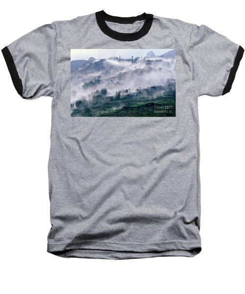 Foggy Mountain Of Sa Pa In Vietnam Baseball T-Shirt