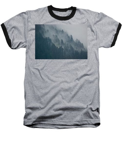 Foggy Mountain Ridge Baseball T-Shirt
