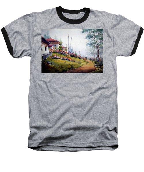 Foggy Mountain Village Baseball T-Shirt