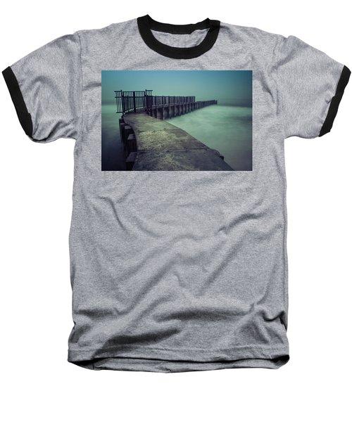 Foggy Night At Toes Beach Baseball T-Shirt