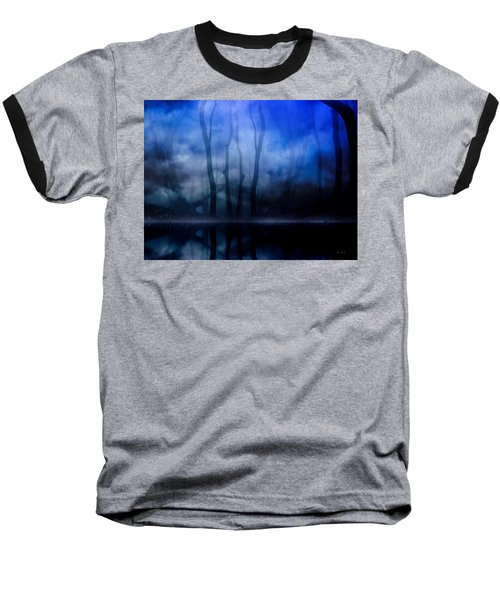 Foggy Night Baseball T-Shirt by Gabriella Weninger - David