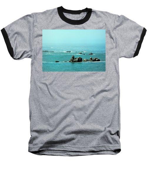 Sunny Blue Pacific Ocean Along The Oregon Coast Baseball T-Shirt