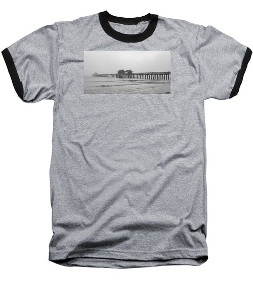 Foggy Pier Baseball T-Shirt