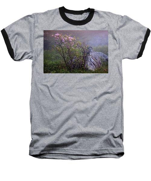 Foggy Pink Azalea Baseball T-Shirt