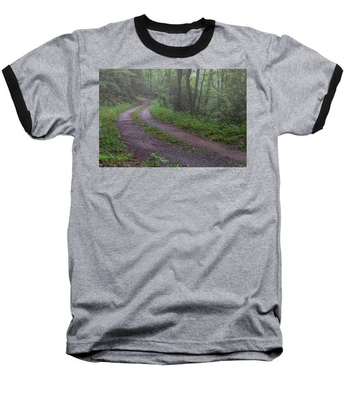 Foggy Road Baseball T-Shirt