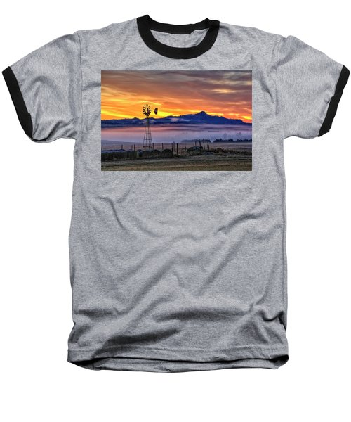 Foggy Spearfish Sunrise Baseball T-Shirt