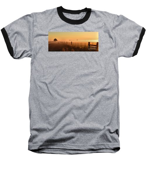 Foggy Sunrise On Hawkins Rd Baseball T-Shirt