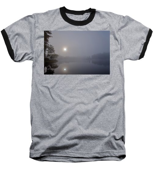 Baseball T-Shirt featuring the photograph Foggy Sunrise On West Lake by David Patterson