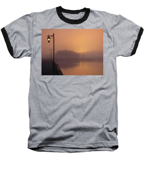 Foggy Sunrise Baseball T-Shirt by Robert Henne