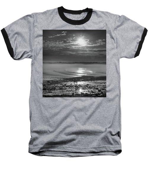 Foggy Sunrise Baseball T-Shirt