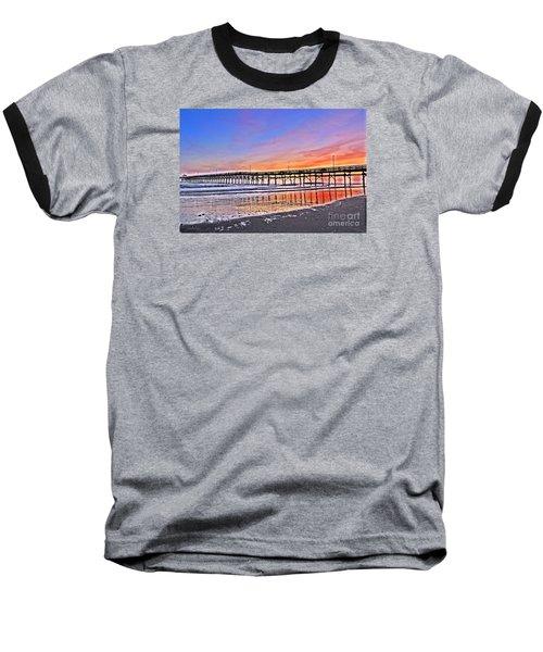 Foggy Sunset Baseball T-Shirt by Shelia Kempf