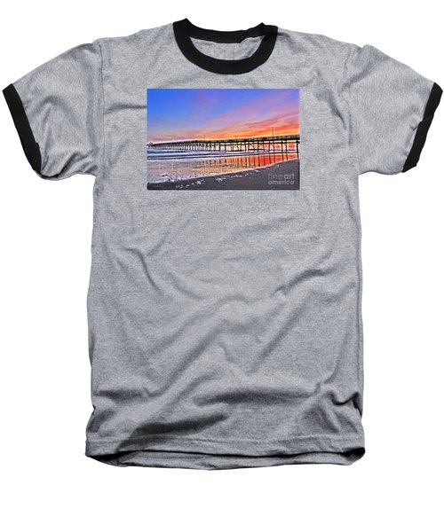 Foggy Sunset Baseball T-Shirt