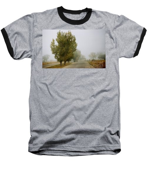 Foggy Trees Baseball T-Shirt