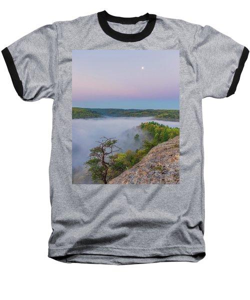 Foggy Valley Baseball T-Shirt by Ulrich Burkhalter
