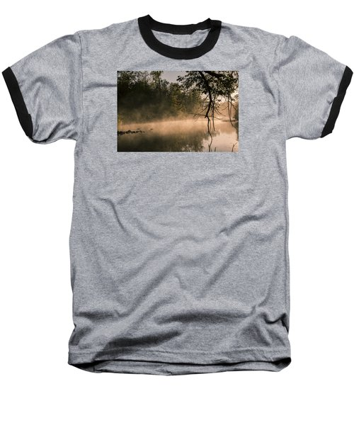 Baseball T-Shirt featuring the photograph Foggy Water by Annette Berglund