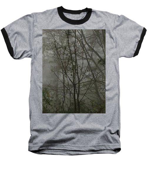Foggy Woods Photo  Baseball T-Shirt