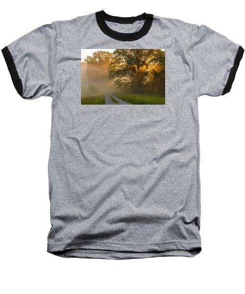 Fogy Summer Morning Baseball T-Shirt by Ulrich Burkhalter