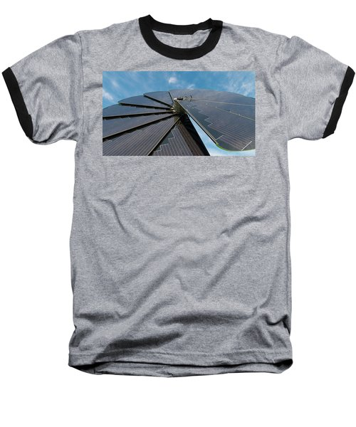 Foldable Solar Collector Baseball T-Shirt by Hans Engbers