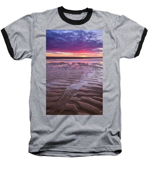 Folds In The Sand - Vertical Baseball T-Shirt