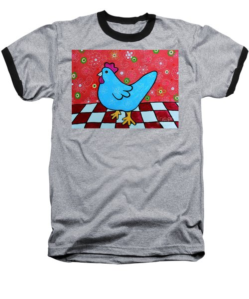 Folk Art Rooster Baseball T-Shirt