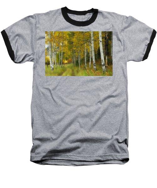 Follow The Light Baseball T-Shirt by Donna Blackhall