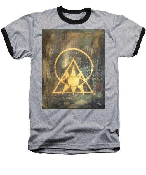 Follow The Light - Illuminati And Binary Baseball T-Shirt