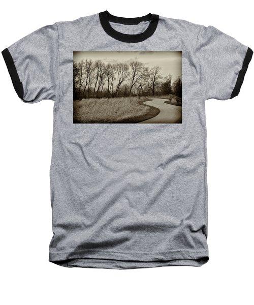 Baseball T-Shirt featuring the photograph Follow The Path by Elvira Butler