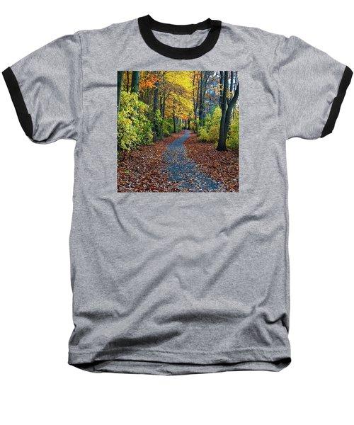 Follow The Path Baseball T-Shirt by Mikki Cucuzzo