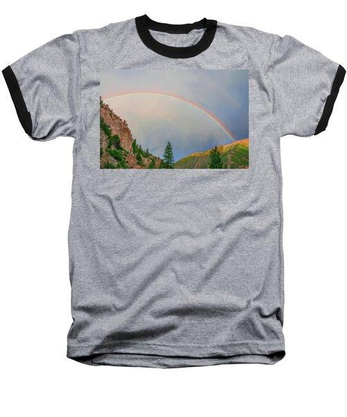 Follow The Rainbow To The Majestic Rockies Of Colorado.  Baseball T-Shirt