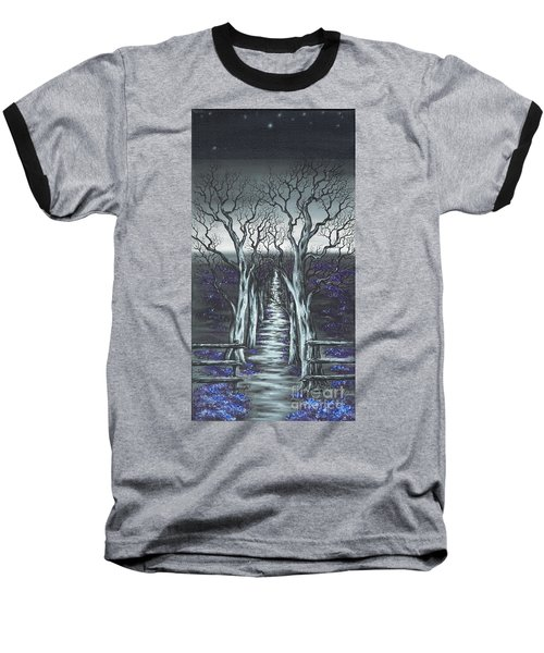 Baseball T-Shirt featuring the painting Follow The Stars by Kenneth Clarke