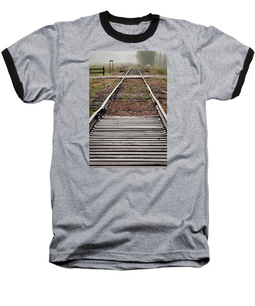 Baseball T-Shirt featuring the photograph Following The Tracks by Monte Stevens