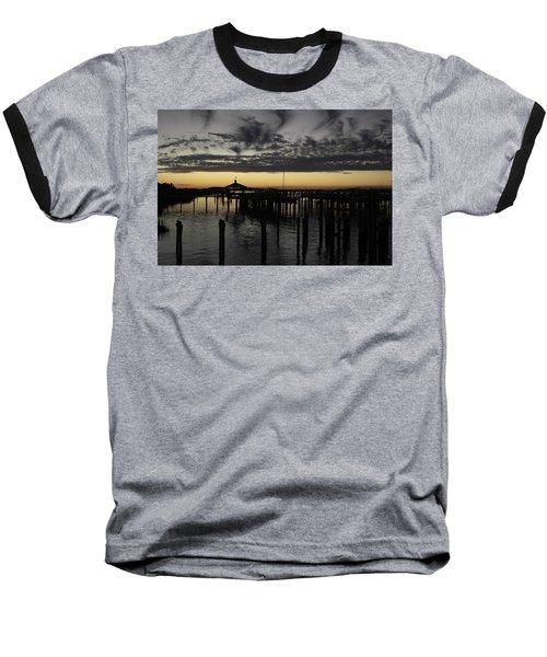 Folly Beach Dock Baseball T-Shirt