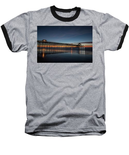Folly Beach Pier Before Sunrise Baseball T-Shirt