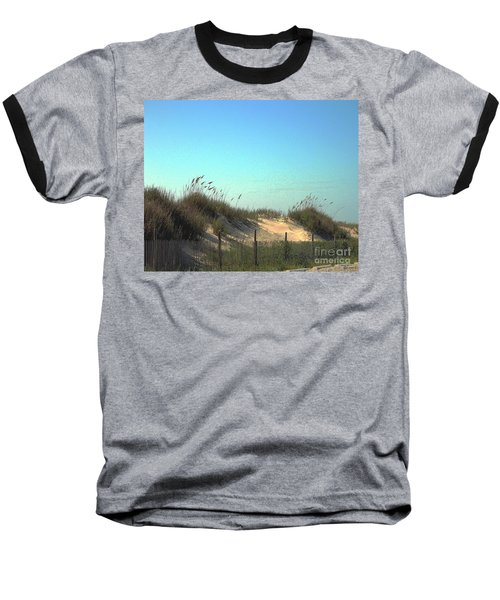 Folly Beach Sc Dunes Baseball T-Shirt